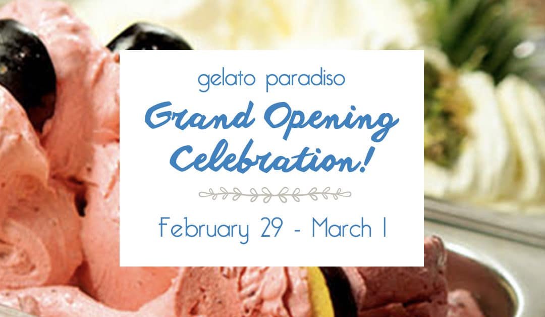 Gelato Paradiso is now open on South Congress and it's time to celebrate!